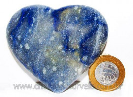 Coração Quartzo Azul Pedra Natural de Garimpo Cod 104635