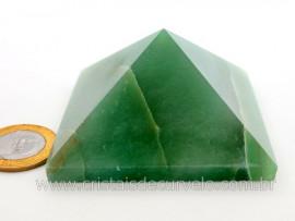 Piramide Quartzo Verde Baseada Queops Pedra Comum Lapidado Manual Cod 212.6
