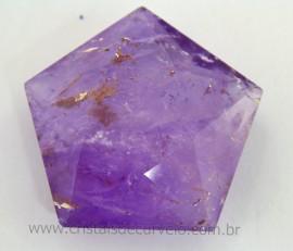 Pentagrama Simbolo Wicca Pedra Ametista Estrela 5 pontas Tamanho Medio 20 A 50 G