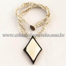 Maxi Colar Pingente Mandala de Madrepérola Cod 120765