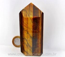 Ponta Olho de Tigre Pedra Extra Natural Lapidado Importado Africa Cod 300.2