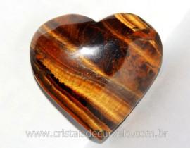 Coração Olho de Tigre Pedra Extra Natural Origem Africa Natural Cod 104.3