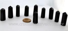 10 Pontinha Gerador QUARTZO PRETO  Pedra Extra Lapidado Tamanho 2.5  Cm