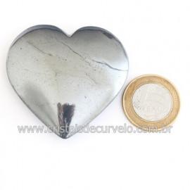 Coração Hematita Pedra Natural Lapidação Manual Cod 121882