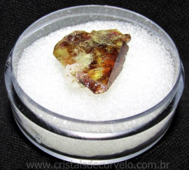 Esfenio Titanita Mineral Bruto Natural no Estojo Cod 115080