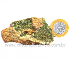 Ludlamita Pedra Matriz Siderita Bruta Natural Coleção Cod 127877