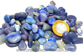 Pedra Rolada QUARTZO AZUL Tamanho Pequeno Pacote 1kg QA2658