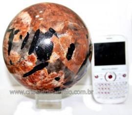 Esfera Grande 3kg Turmalina Feldspato Quartzo e Mica Cod 101718