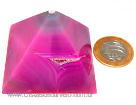 Pirâmide Pedra Ágata Rosa Baseada Egípcio Quéops Cod 109106