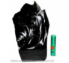 Obsidiana Negra Mineral Vulcânico Pedra Natural Cod 110147
