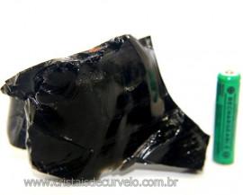 Obsidiana Negra Mineral Vulcânico Pedra Natural Cod 106363