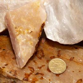 5kg Quartzo Goiaba Pedra Bruta Natural Pra Lapidar Pacote ATACADO