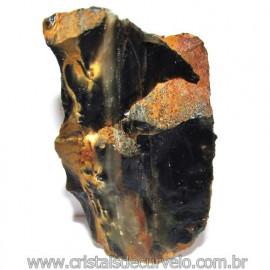 Onix Preto Pedra Bruto Natural Família Calcedonia Cod 115563