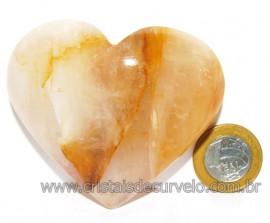 Coração Hematoide Amarelo Natural Presente Ideal Cod 116036