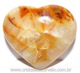 Coração Hematoide Amarelo Natural Presente Ideal Cod 114786