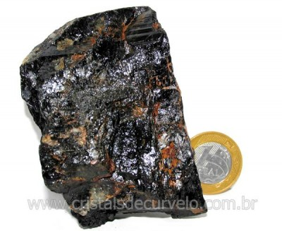 Turmalina Preta Pedra Bruto Natural de Garimpo Cod TP7792
