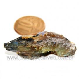 Labradorita Canadense Mineral Natural No Estojo Cod 123840