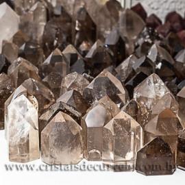 10 kg Fumê Cristal Gerador Pontas Lapidado COMUM  Pedras de Garimpo ATACADO