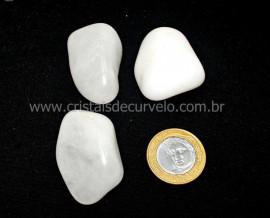 03 Quartzo Leitoso Pedra Rolado Natural de Garimpo Reff PU7555