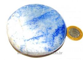 Massageador Disco Quartzo Azul Massagem Terapeutica Cod DA7345