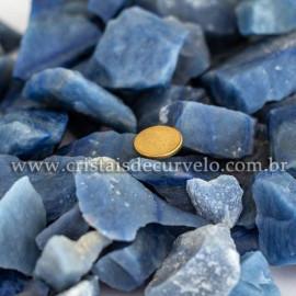 01kg Cascalho Quartzo Azul Pedra Bruto Pra Orgonite 112883