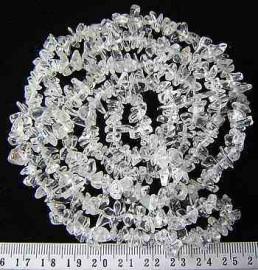 Fio Cascalho Cristal Extra Furado a Laser Pedra Natural Rolada e Furado 90cm