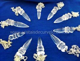 100 Pendulo Egipcio Cristal Corrente Prateado ATACADO