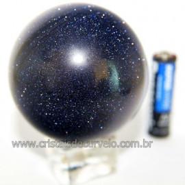 Esfera Pedra Estrela Pigmentado Cintilante Azul Cod 109484