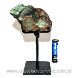 Esmeralda Canudo Pedra Natural com Suporte De Ferro Cod 119353