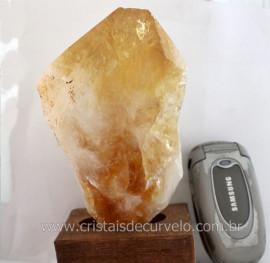 Citrino Terminado Pedra Bruto Natural Mineral Quartzo Extra Tom Amarelo Cod 797.5