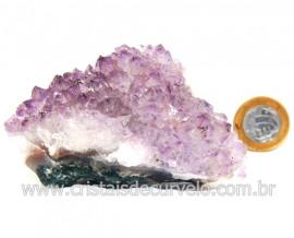 Drusa Ametista Pequena Pedra Natural Boa Cor Cod 127702