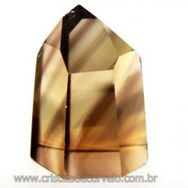 Ponta Citrino Natural e Fume Pedra Quartzo Bi Color 109291