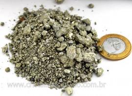 Pirita em Po Granulado ou Farelo de Pirita Pedra Natural  Pacotinho 100 Gr