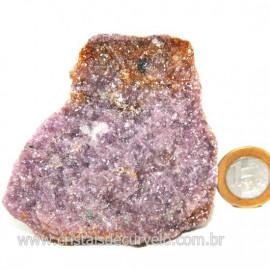 Lepidolita Mica Natural Mineral P/Colecionador Cod 124264