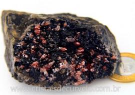 Rodocrosita Na Matriz Para Colecionador Pedra Bruto Mineral Natural  Cod 343.4