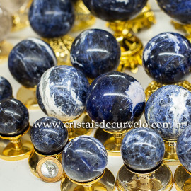 1 Kg Esfera Bola Sodalita Azul Natural ATACADO 112695