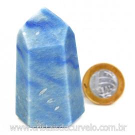 Ponta Quartzo Azul Pedra Natural Gerador Sextavado Cod 127773