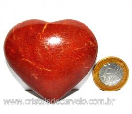 Coração Quartzo Vermelho Pedra Natural de Garimpo Cod 113961