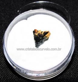 Rutilo Estrela na Matriz de Hematita No Estojo Cod 115109