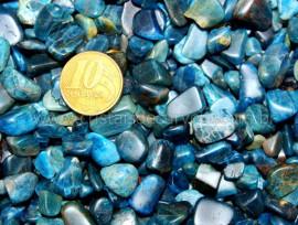 Apatita Azul Rolado Pedra Miuda Pacotinho 200 Gr Mineral Natural REFF AR8695