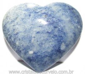 Coração Quartzo Azul Pedra Natural de Garimpo Cod 114988