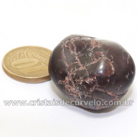 Rodolita Granada Pedra Rolada Natural de Garimpo Cod 126682