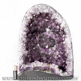 Capela de Ametista Pedra Natural Medio Ótimo Lilás Cod 123101