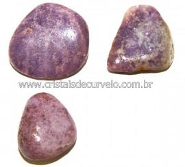 03 Lepidolita Mica Natural Rolado Ideal P/Coleção Reff 108972