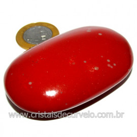 Sabonete Massageador Jaspe Vermelho Pedra Natural Cod 114290