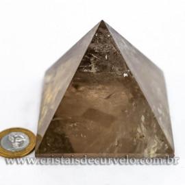 Pirâmide GRANDE Pedra Quartzo Fumê Natural Queops cod 120722