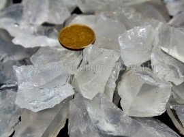 1 KG Cristal Opalado cascalho Bruto pra Orgonite Reff CO6399