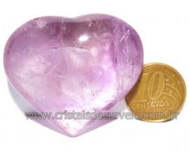 Coraçao Ametista Pedra Natural Ideal P/Presentear Cod 116126