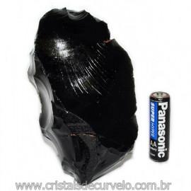 Obsidiana Negra Mineral Vulcanico Pedra Natural Cod 115854