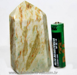 Ponta Nefrita Lapidado Pedra Natural de Garimpo Cod 101460